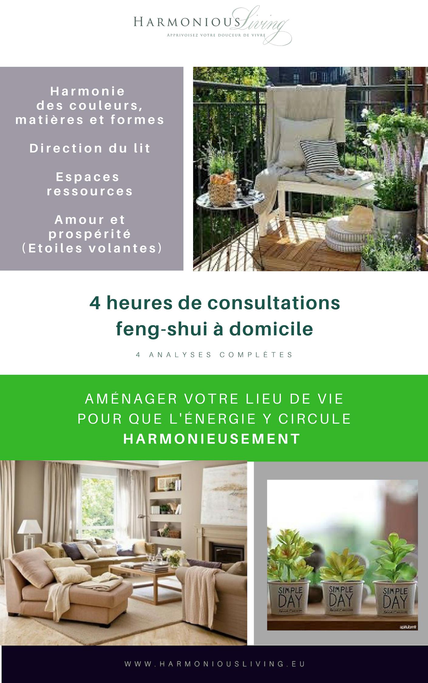 4 heures de consultation Feng-Shui à domicile